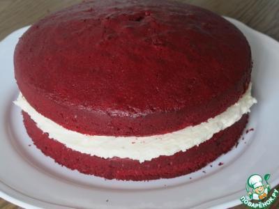 бисквит красный бархат рецепт с фото