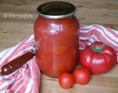 помидоры в собственном соку на зиму рецепты приготовления