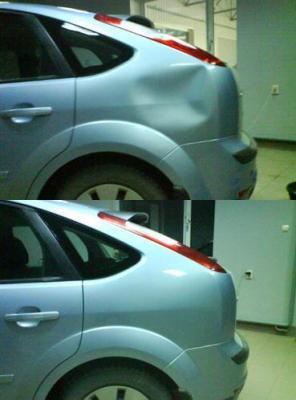 как самому убрать вмятину на машине