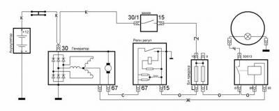 как правильно подключить реле контроля зарядки акб ваз 2101