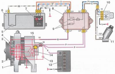 как подключить генератор с 2108 на ваз 2106
