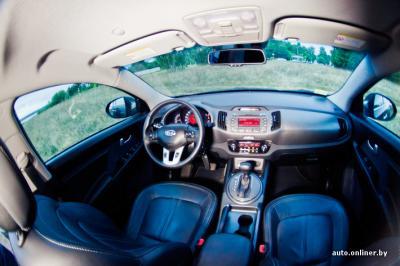 как разблокировать руль у киа спортейдж 2011