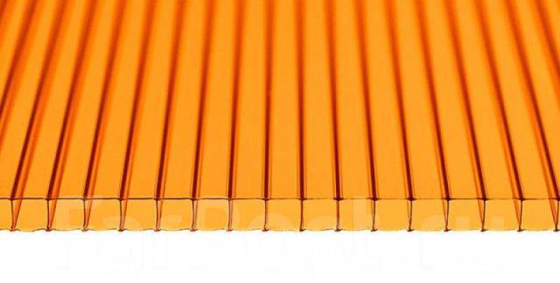 Где применяется оранжевый сотовый поликарбонат