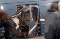 Опубликовано видео с места взрыва в метро Петербурга 4 апреля 2017 ( есть погибшие )