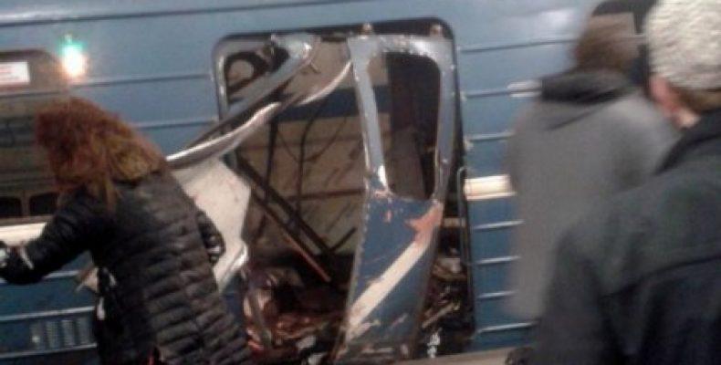 Видео с места взрыва в метро Петербурга