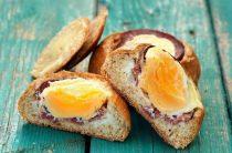 Запеченные бутерброды с яйцом и ветчиной Эти вкусные,