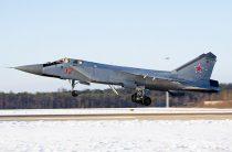 МиГ-31БМ поразили мишени в ночном небе на высоте