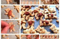"""Имбирное печенье """"Мишки с орешками"""". Простой рецепт печенья,"""