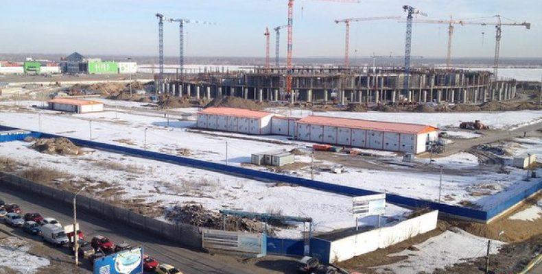 Строительство второго яруса стадиона в Нижнем Новгороде, на
