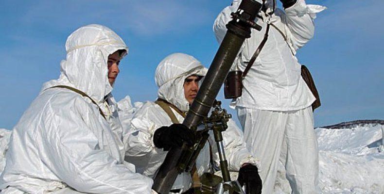 Минометчики соединения морской пехоты ТОФ готовы к противолавинному