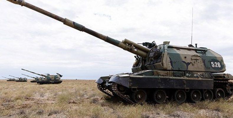 Артиллеристы ЗВО отрабатывают огневое поражение объектов условного противника