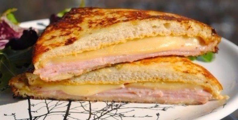 """Сэндвич """"Монте-Кристо"""" Ингредиенты (на 2 сэндвича): 4 ломтика"""