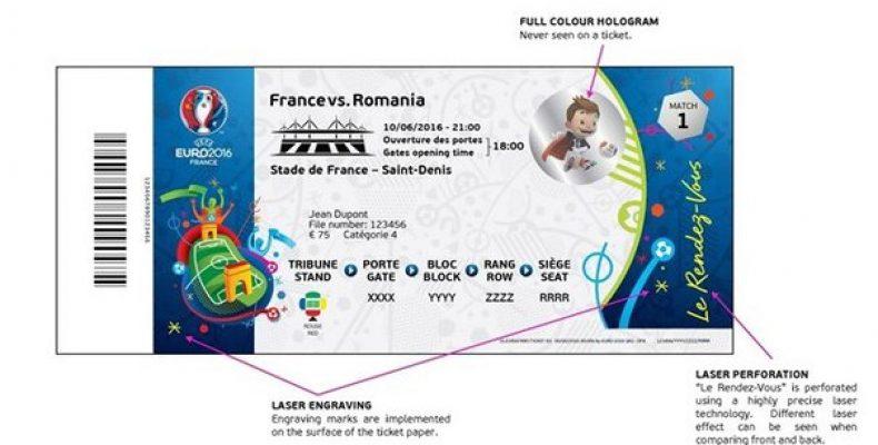 УЕФА представил дизайн билетов на матчи . В