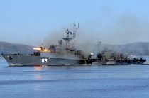В Баренцевом море состоялось двустороннее учение разнородных сил