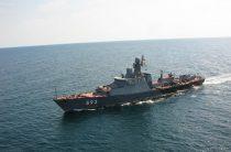 Корабли Каспийской флотилии провели учения с комплексом «Калибр-НК»