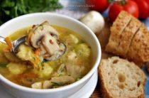 Гречневый суп с грибами и картофельными клёцками Еще