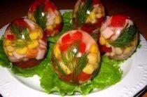 Заливные яйца Продукты на 10 порций: 10 скорлупок