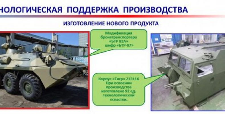 """БТР-87 В официальной презентации о развитии ПАО """"Завод"""