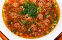 ГРЕЧНЕВЫЙ СУП С ФРИКАДЕЛЬКАМИ Из плюсов этого супа