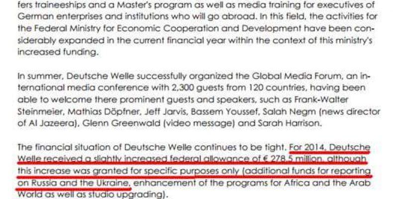 Расследование: правительство ФРГ через DW ведет подрывную работу