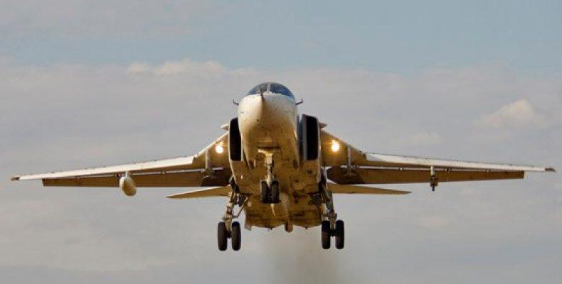 Экипажи Су-24М выполнили бомбометание на Тоцком полигоне в