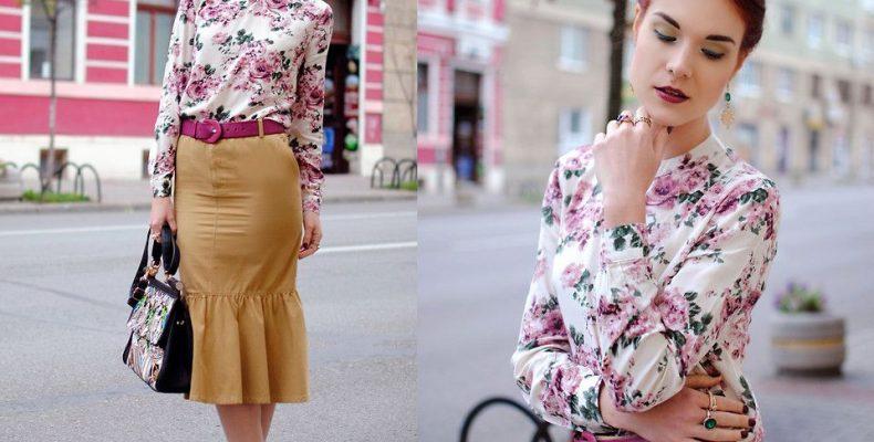 Обдуманный выбор цветочной блузки