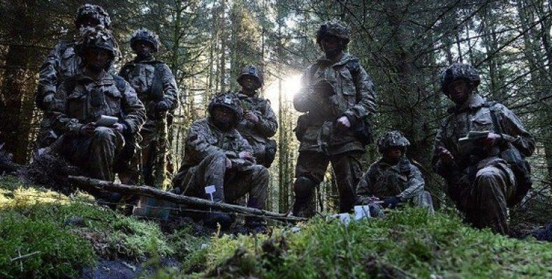 Британские военные испытали новый камуфляж Британские военные провели