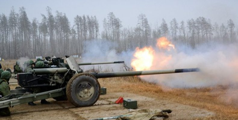 Артиллерийское соединение ВВО в Амурской области поднято по