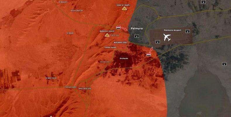 Сирийская армия вошла в Пальмиру. Идут бои за